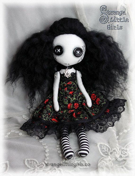 Hey, I found this really awesome Etsy listing at https://www.etsy.com/listing/264957376/gothic-art-doll-with-button-eyes-small