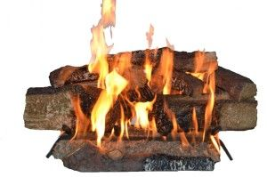 hese Ceramic Fireplace Logs uses natural gas fuel that requires a working flue. It comes with all you need.