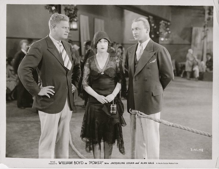 It features, from left: Alan Hale, Jacqueline Logan and William Boyd.