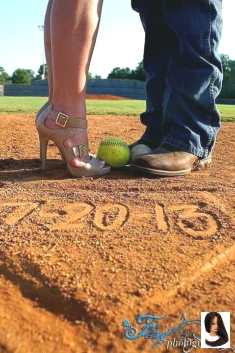 Engagement photos fling photography sports photography baseball softball #single