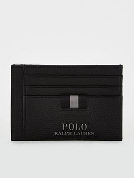 Pebble Leather Credit Card Holder With Money Clip – Black