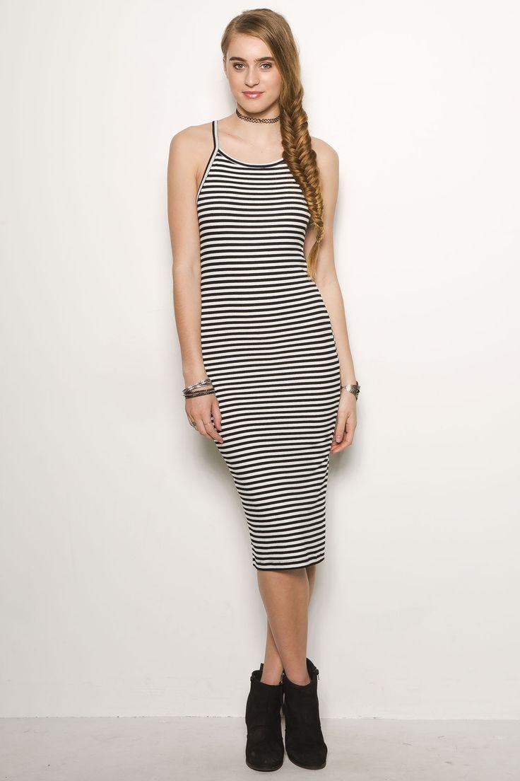 Girls Striped Bodycon Dress - $9.99