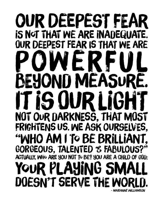 Inspirational Print Powerful Beyond Measure. by raincityprints