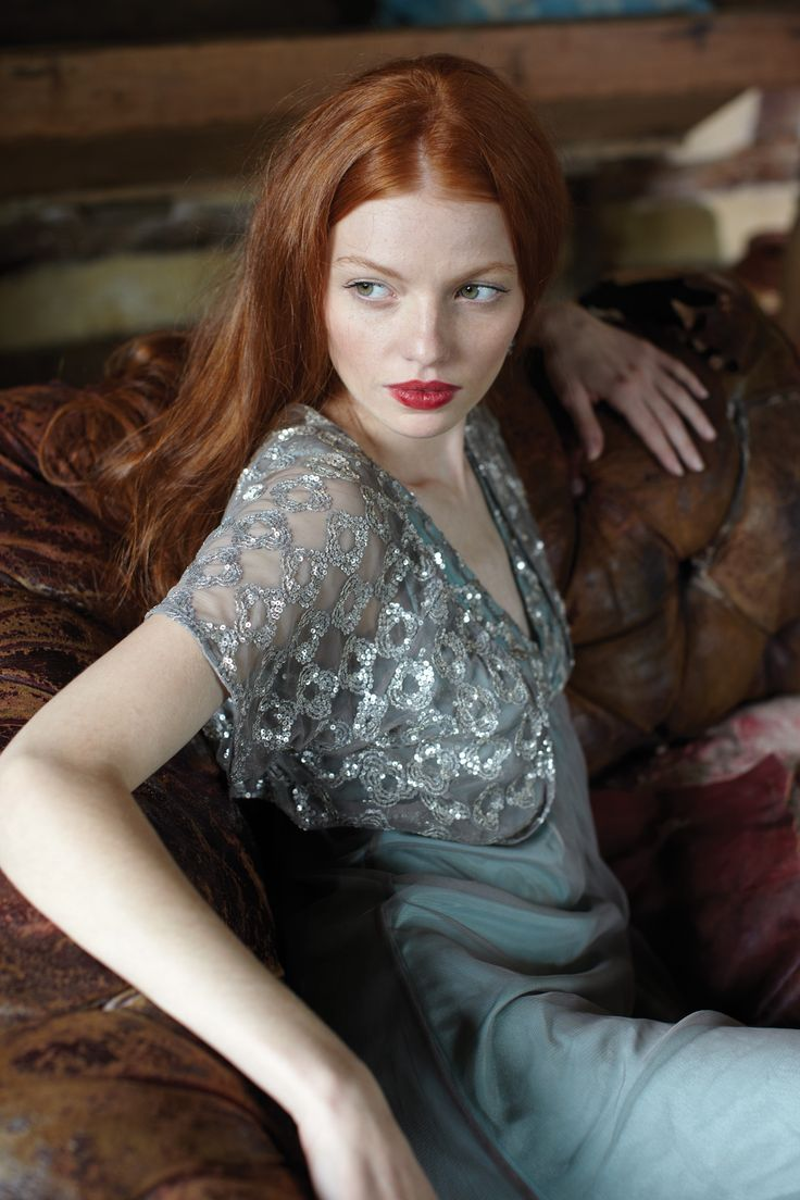 I covet her red hair... except I know the upkeep on my dark hair would be weekly.
