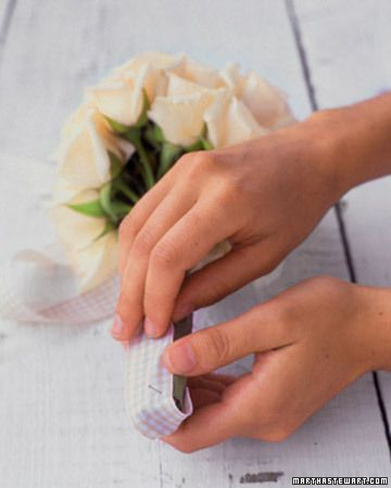 Three Perfect Bows - Martha Stewart Weddings Inspiration  Make a Perfect Bow.