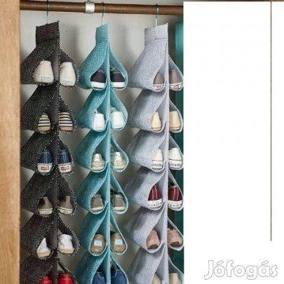 Új cipőtároló eladó: Cipők tökéletes tárolására alkalmas. Jól áttekinthető,és helytakarékos. Írjon bátran, a méretet,és a fakkok számát megválaszthatja.