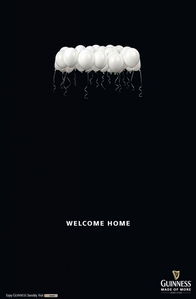 Guinness: Welcome Home Poster Ad | http://www.gutewerbung.net/guinness-welcome-home-poster-ad/ #Advertising