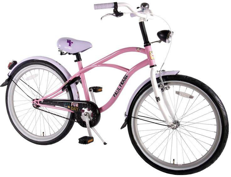 Girls Cruiser Bike Julius the Monkey Designed By Paul Frank 24 Inch Girls Bicycle
