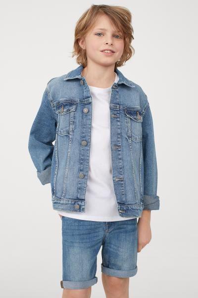 7e896db5 H&M Slim Fit Denim Shorts - Blue   Boys fashion   Kids clothes boys ...