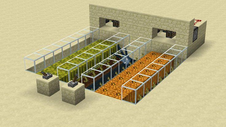 Automatische Melonen/Kürbis Farm Minecraft