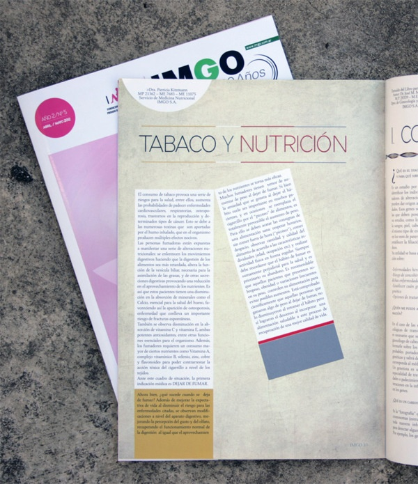 Arte y diseño Revista de Salud -IMGO- by Adriel Riveras, via Behance