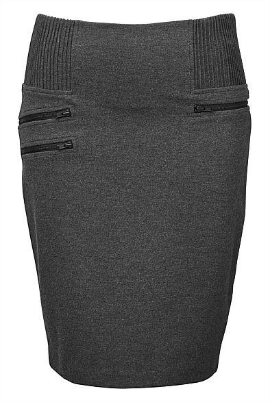 Biker Zip Pencil Skirt