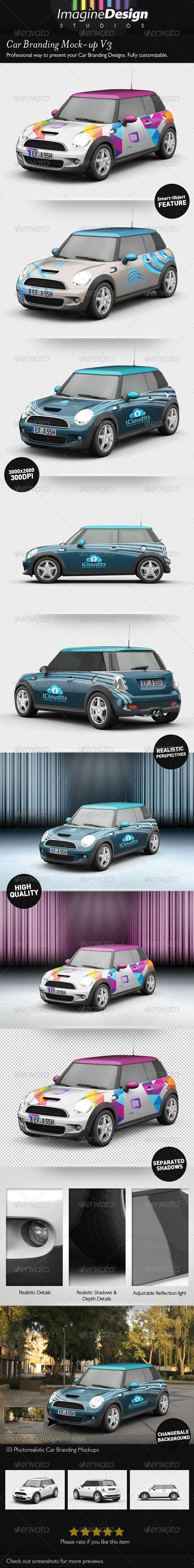 Car Branding Mock-up V3 - http://startupstacks.com/graphics/car-branding-mock-v3.html - free download