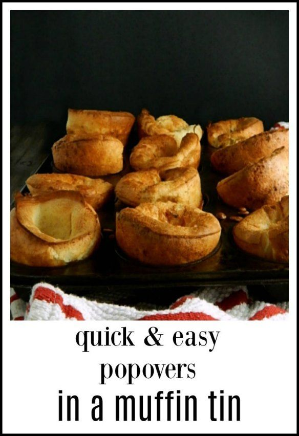 Popovers In A Muffin Tin Frugal Hausfrau Recipe Easy Popover Recipe Easy Popovers Popover Recipe
