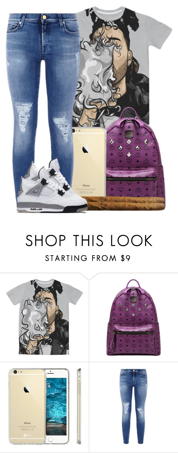 """""""Happy 420 day....I don't smoke"""" by ashcake-wilson ❤ liked on Polyvore featuring MCM, 7 For All Mankind and NIKE"""