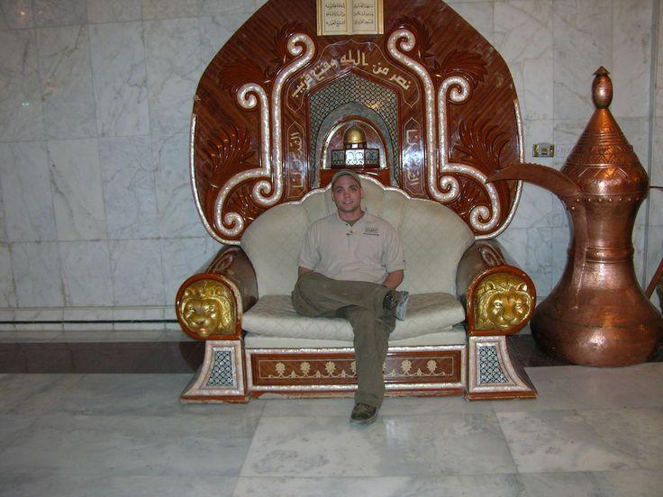 I sat in that same chair (2004) Saddam's Chair, Al Faw