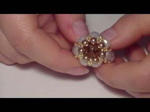 DIY Tutorial Modulo Aurum per orecchini e anello con perline - YouTube