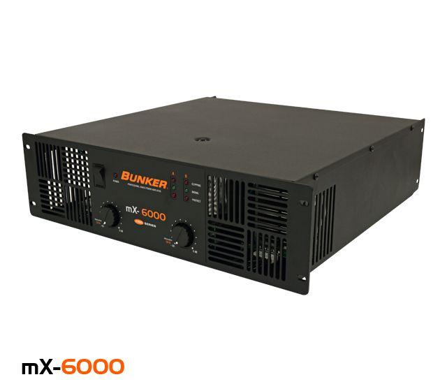 Amplificador de sonido, 2 canales, potencia de 1550 W @ 8 Ω, respuesta en frecuencia de 10 Hz a 22 kHz en -0.1 dBu, distorsión del 0.05% @ 4 Ω en 1 kHz.