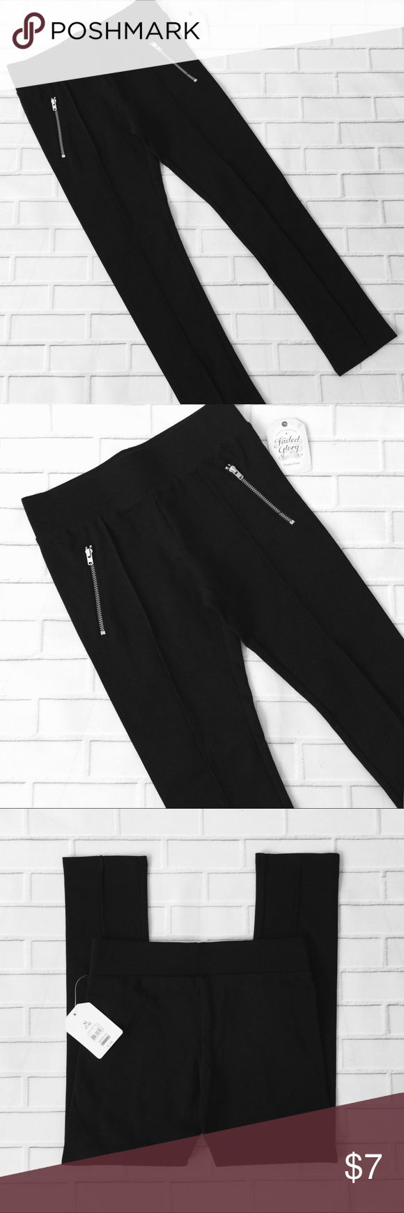 Make Bundle Offer🔸Girls NWT Zipper Front Leggings 🔹Like items 🔹Add to a bundle 🔹Make bundle offer  ▫️Brand: Faded Glory ▫️Size: M (7-8) ▫️Material: Cotton/Polyester/Spandex ▫Condition: NWT ▫️Flaws: NONE  ▪️NO Trade/Hold ▪️Next Day Shipping ▪️Smoke Free/Kitty Friendly Home Faded Glory Bottoms Leggings