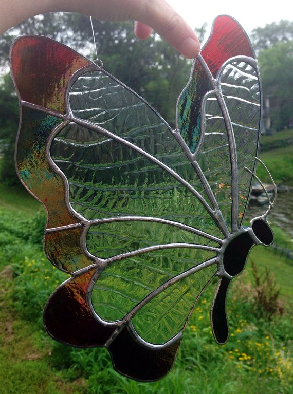 Ready to Ship Butterfly Stained Glass Sun Catcher ready to ship on Etsy, $45.00