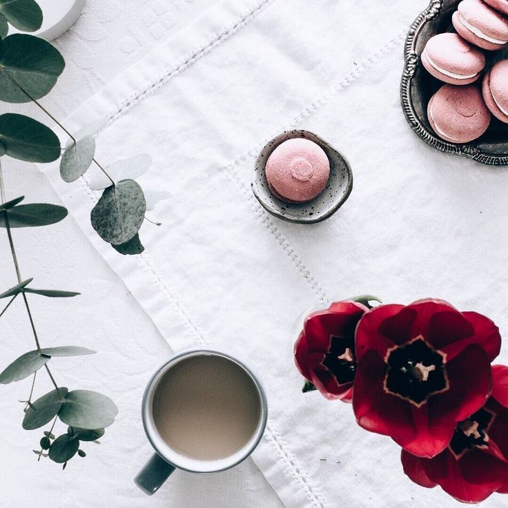 When Wednesday hits I think I need tea tulips & tasty treats  . What gets you through Wednesday hump day?. . #tulips #timefortea