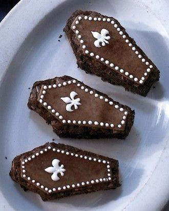 Halloween Coffin Brownies