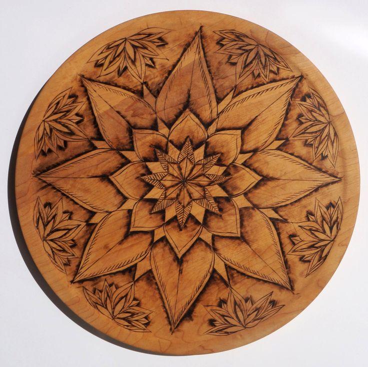Custom Mandala Pyrography Cutting Board by TheseOldWoods on Etsy https://www.etsy.com/listing/241488960/custom-mandala-pyrography-cutting-board