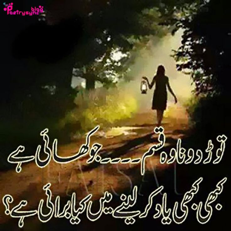Trust Sms Quotes: Poetry: Yaad Urdu Shayari Images In Sad Poetry Words