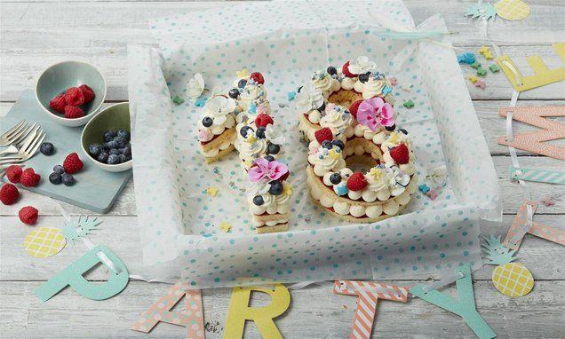 Geburtstagszahlen Torte Rezept Geburtstagstorten Rezepte Anzahl Kuchen Geburtstagstorte
