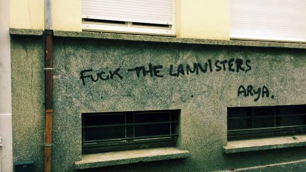 """""""fuck the Lannisters"""" Tumblr participatif Graffitivre"""