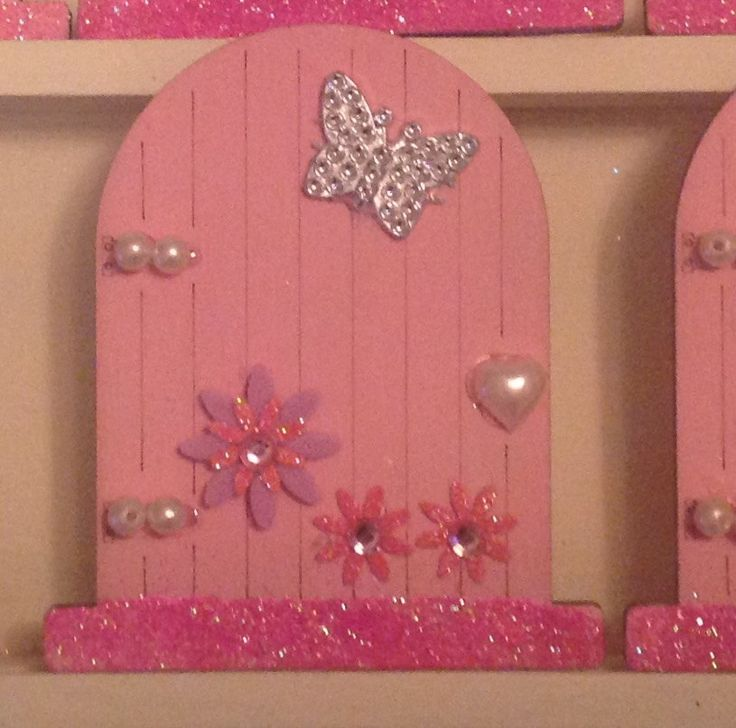 Hand painted fairy door by Karensdoings on Etsy