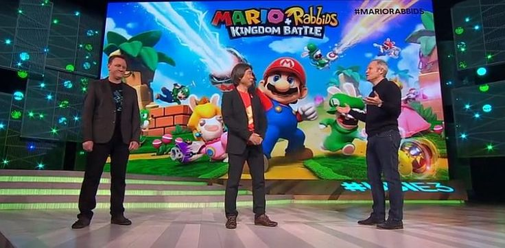 Mario + Rabbids #Kingdom Battle introduced by Shigeru Miyamoto at Ubisoft E3 2017 show #VideoGames #battle #introduced #kingdom #mario