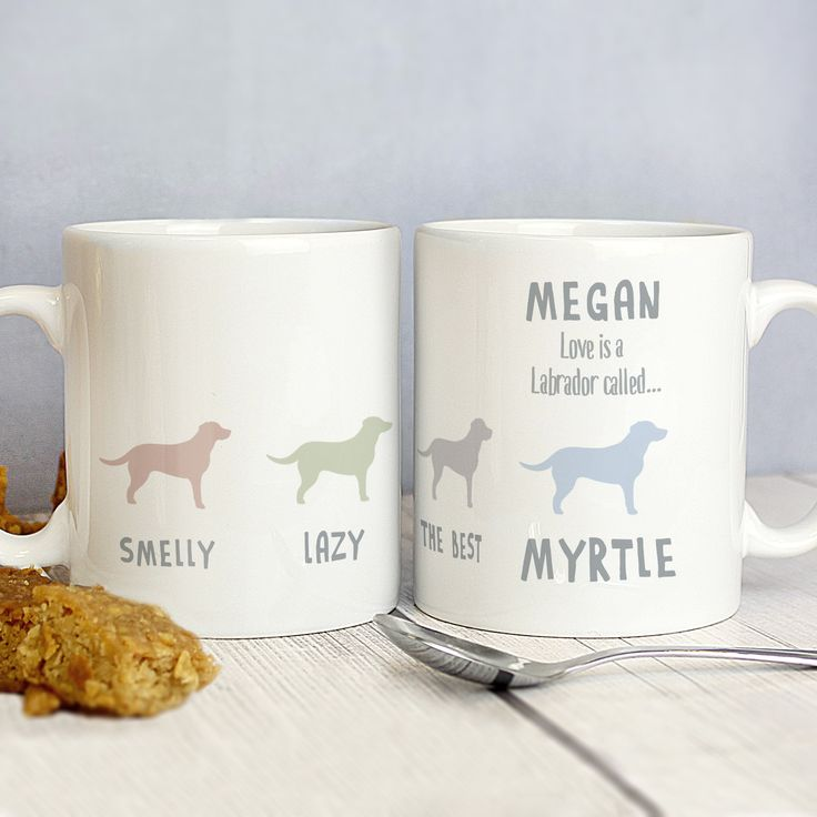 Personalised Labrador Dog Breed Mug P0805G05 Other Breeds available  http://www.lmfpersonalisedgifts.co.uk fb page  https://www.facebook.com/LMF-Personalised-Gifts-143994572662514/