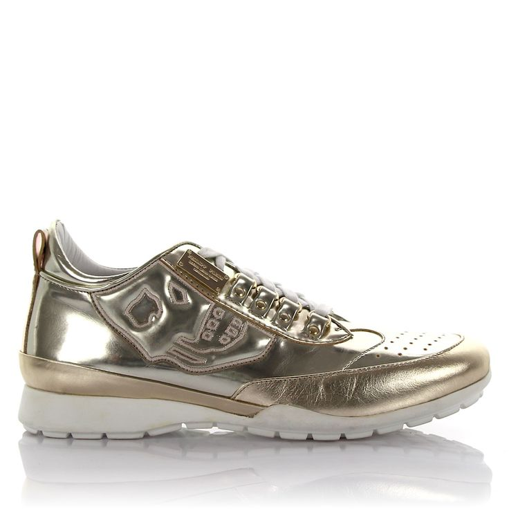 Philipp Plein Sneakers Lackleder gold
