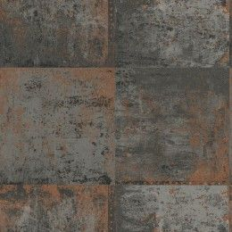 Copper metal plate wallpaper by Holden Decor - 65164