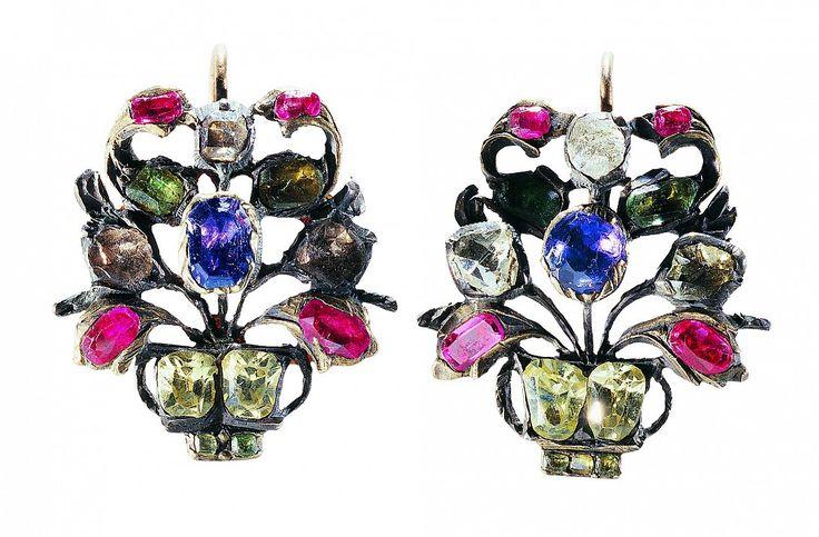 18th Century Giardinetti Earrings-French