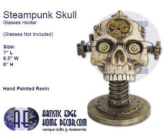 Steampunk Skull Glasses Holder