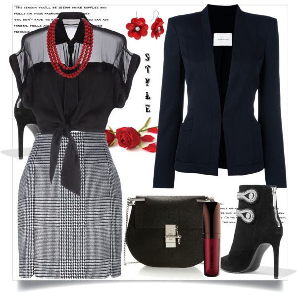 It's All About Style by helenaymangual on Polyvore featuring Pierre Balmain and Chloé