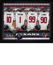 Personalized NFL Texans Locker Room Print $34.98