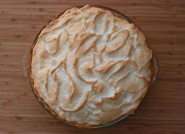 Rhubarb custard meringue pie.Meringue Pie
