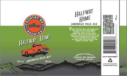 mybeerbuzz.com - Bringing Good Beers & Good People Together...: Country Boy Brewing - Halfway Home American Pale A...