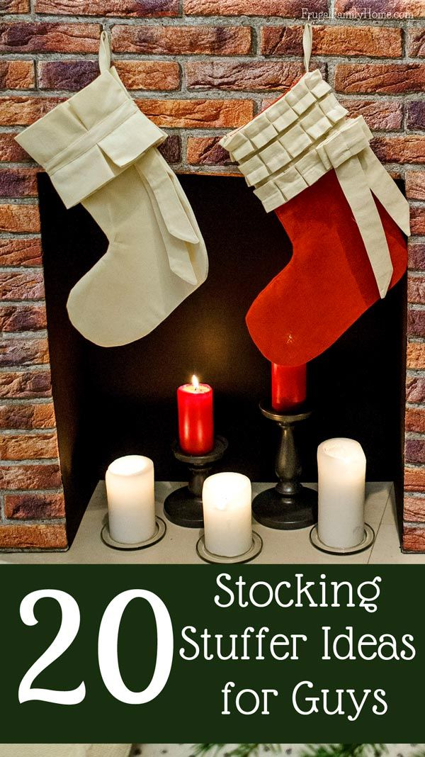 20 stocking stuffer gift ideas for those guys in your life. All these ideas are around $20 or less.