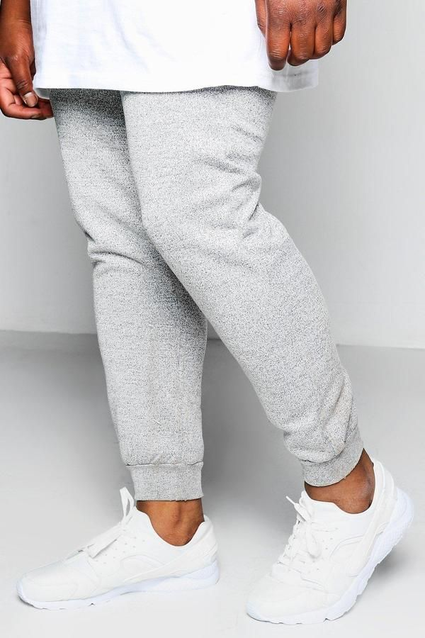 boohoo Big And Tall Space Dye Joggers