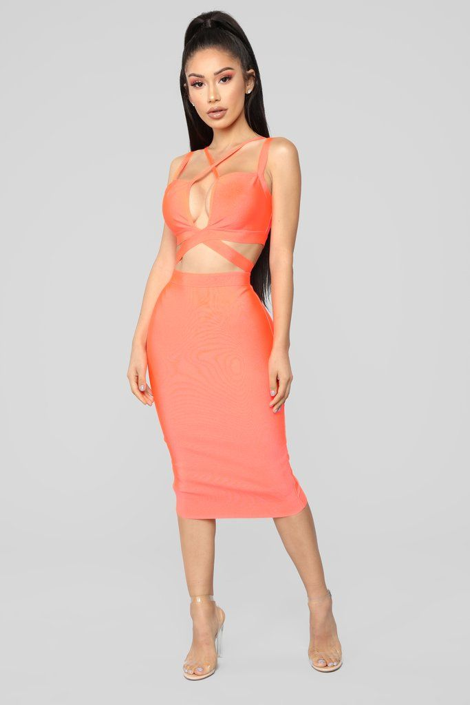 5a8576fd190 You Brighten My Day Bandage Dress - Neon Coral in 2019