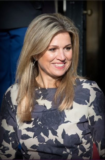 King Willem-Alexander and Queen Maxima of the Netherlands attends an reception for the 48th birthday of the King at the Royal Palace on April 23, 2015 in Amsterdam, The Netherlands.