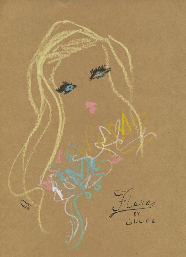 """Abbey Lee Kershaw for Flora by GUCCI"" グッチのフレグランス『フローラ』のキャンペーンモデルを務めるアビー・リー・カーショウ。新しい広告もロマンティックで素敵。"