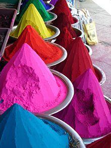 Kum Kum powder (Mysore, India): Kumkum Powder, Diy'S, Bricks Wall, Bright Colour, Pale Pink, Color Concrete, Concrete Paver, Dyes, The Color Running