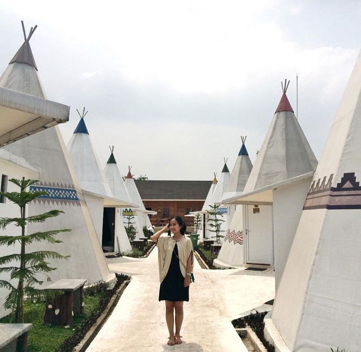 Glamping in a teepee at Highland Park Resort, Bogor, Indonesia