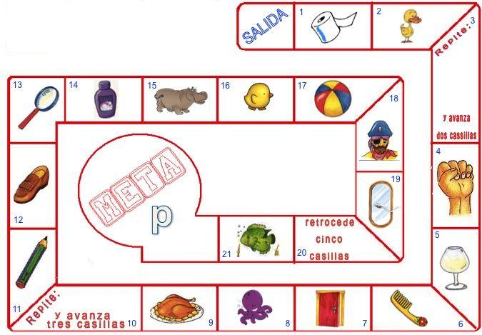 OCA p (los espacios son para que pongas trabalenguas o rimas con el fonema)