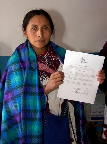 The Indigenous Women's House in Chalchihuitan helps women to get birth certificates after their children are born.